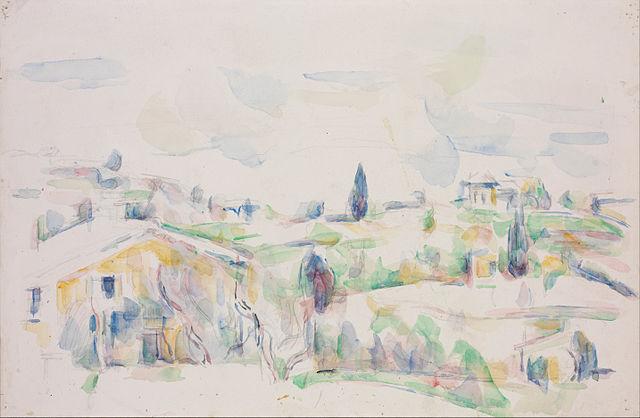 Esquisse d'un paysage de Provence par Cézanne