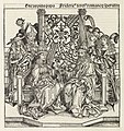 Paus Pius II en keizer Frederik III Eneas pius papa Fridericus tercius romanorum imperator (titel op object) Liber Chronicarum (serietitel), RP-P-2016-49-52.jpg