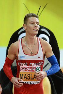 Pavel Maslák Czech sprinter