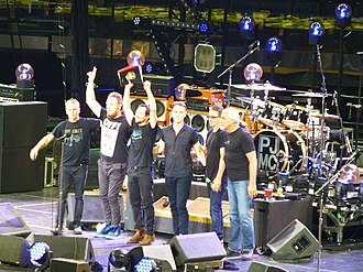 Pearl Jam - Pearl Jam onstage at Madison Square Garden on May 2, 2016