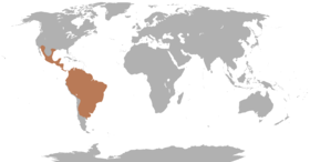Range of the peccaries