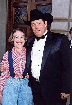 Northern Exposure - Peg Phillips and Barry Corbin at the 1993 Emmy Awards