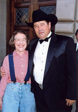Barry Corbin - Corbin with Peg Phillips on the red carpet at the Emmy Awards 1993