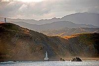Pencarrow Head, Wellington, New Zealand from Santa Regina, 24 Feb. 2007.jpg