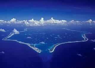 Penrhyn atoll island