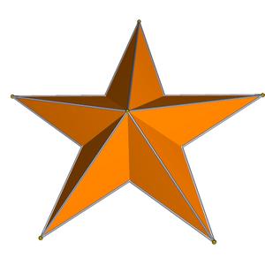 Pentagrammic prism - Image: Pentagram Dipyramid