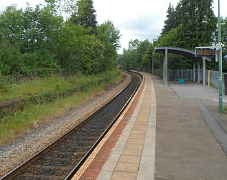 Pentre-bach railway station - Image: Pentrebach railway station geograph.org.uk 3030169