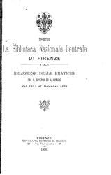 Per la Biblioteca Nazionale Centrale di Firenze