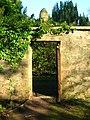 Perceton wall garden door and pineapple.JPG