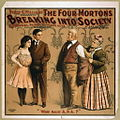 Percy G. Williams presents The four Mortons - Breaking into society 1905.jpg