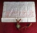 Pergamena di stefano dusan, con sigillo in oro, 1346, 01.jpg