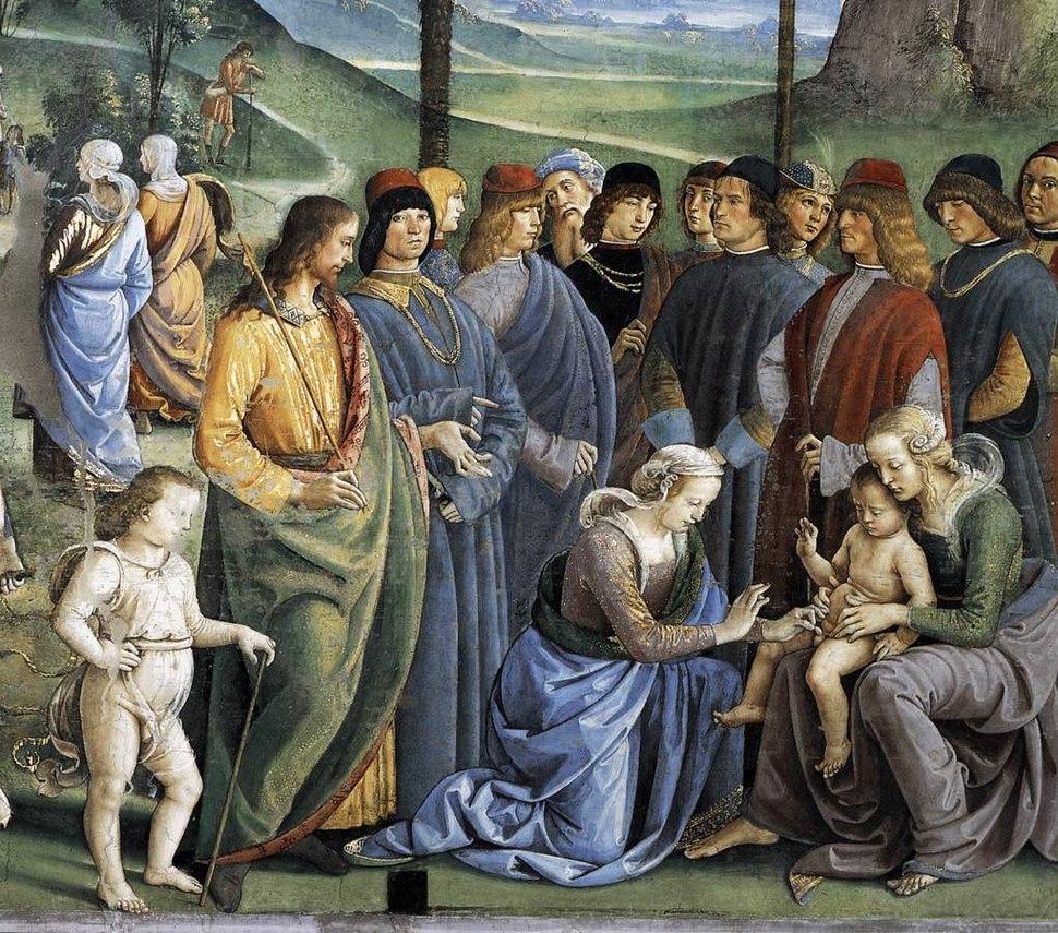 Perugino, Viaggio di Mosè in Egitto 04