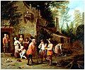 Peter Angelis - Scène dans une cour d'auberge.jpg