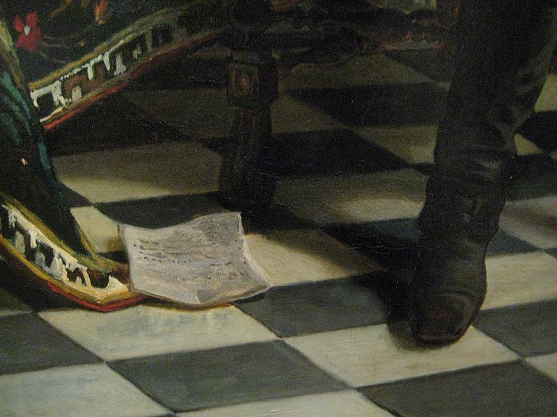 Peter the Great Interrogating the Tsarevich Alexei Petrovich detail 01.jpg