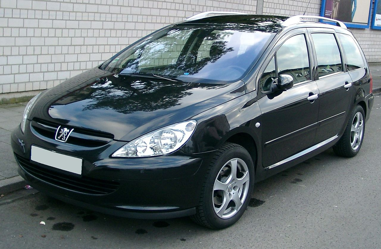 file peugeot 307sw front wikimedia commons. Black Bedroom Furniture Sets. Home Design Ideas