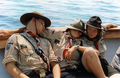 Pfadfinderstamm Ägypten, Internationales Sommerlager (AGESCI – KPE – MCsSz) bei Arlia nahe Fivizzano, Toskana, Italien, 1993 - Bootsfahrt, Cinque Terre.png