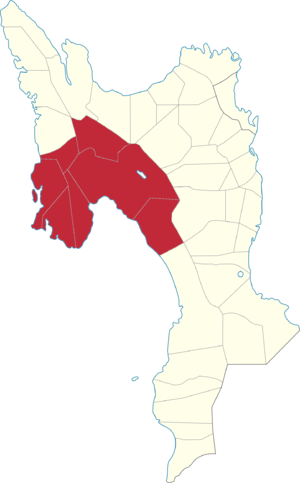 Legislative districts of Leyte - Map of the current 4th District of Leyte