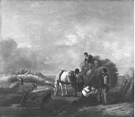 Landscape with the grain harvest