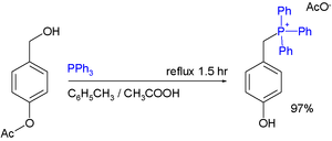 Phosphonium - Phosphonium Acetate Synthesis from benzyl alcohols