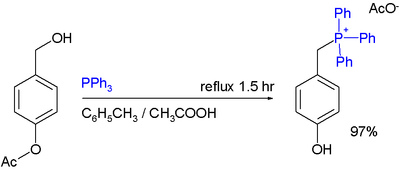 Phosphonium Acetate Synthesis from benzyl alcohols