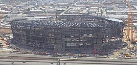 SoFi Stadium, scheduled to open in 2020. It is the home of the Los Angeles Rams and the Los Angeles Chargers