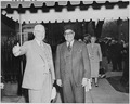 Photograph of President Truman and Prime Minister Liaquat Ali Khan of Pakistan in Washington during the Prime... - NARA - 200197.tif