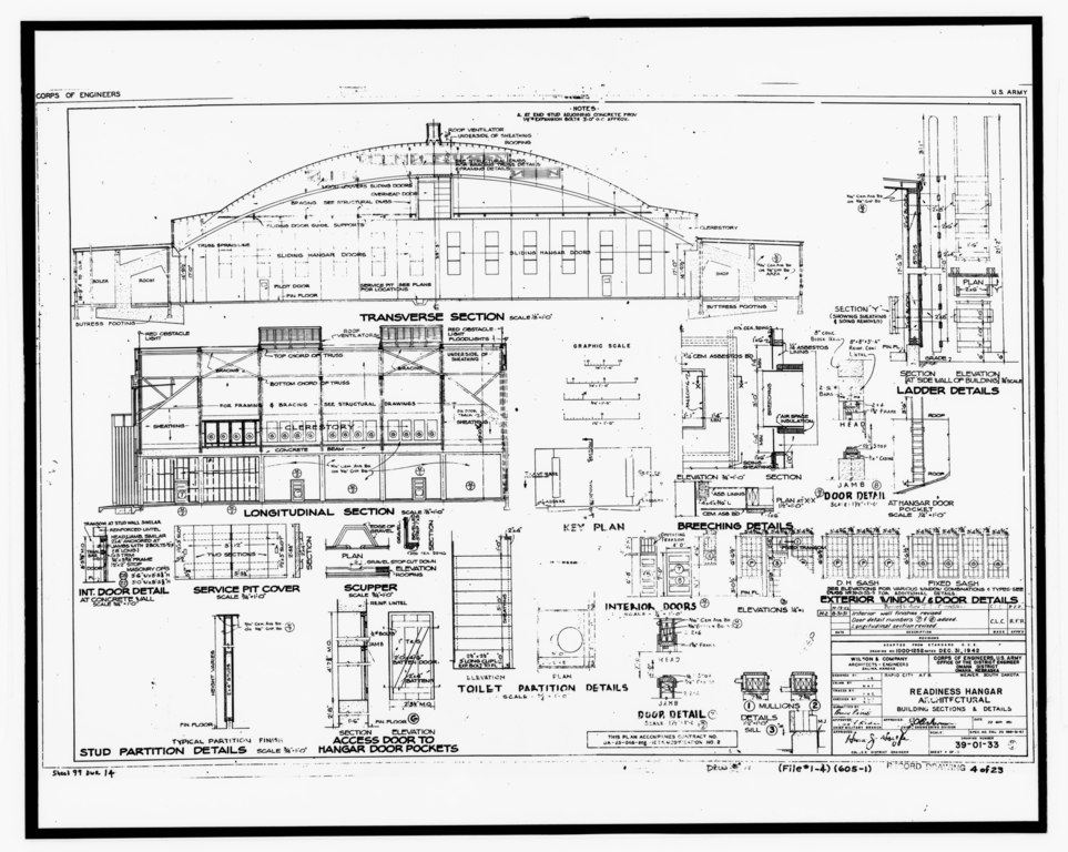 File Photographic Copy Of Original Construction Drawing