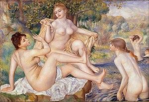 Les Grandes Baigneuses (Renoir) - Image: Pierre Auguste Renoir, French The Large Bathers Google Art Project