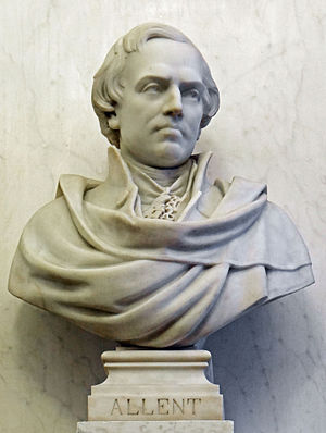 Pierre Alexandre Joseph Allent - Bust of Allent in the library of the Conseil d'État, France