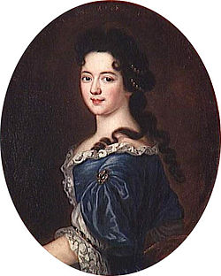 Pierre Mignard portrait painting of Marie Thérèse de Bourbon (1666-1732), Princess of Conti.jpg