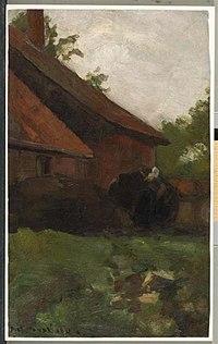 Piet Mondriaan - Woman and farm building in the Achterhoek - 0334225 - Kunstmuseum Den Haag.jpg