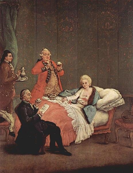 File:Pietro Longhi La cioccolata del mattino The Morning Chocolate 1775-1780.jpg