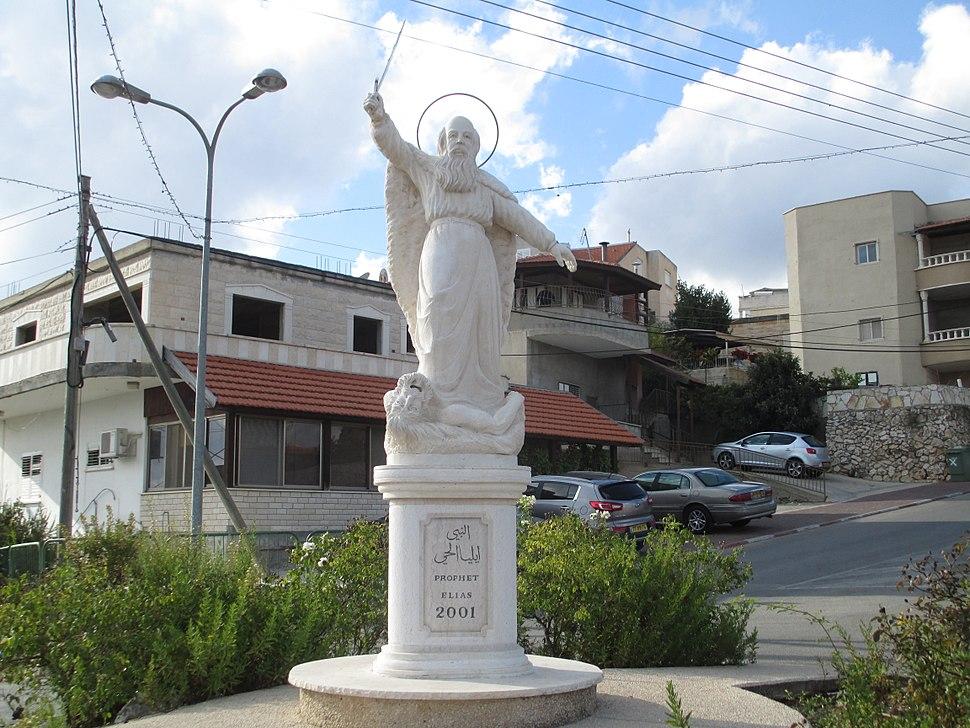 PikiWiki Israel 33234 Prophet Elias statue in Fassuta