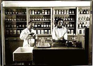 Healthcare in Israel - Pharmacy in Petah Tikva, 1930s