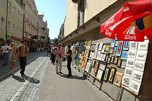 Pilies Street - The street is also popular among sellers of paintings, souvenirs, handicrafts