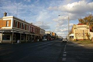 Kyneton Town in Victoria, Australia