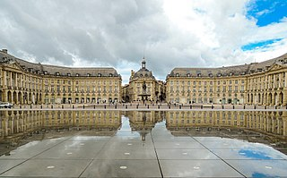 Place de la Bourse in Bordeaux, an example of French baroque architecture.