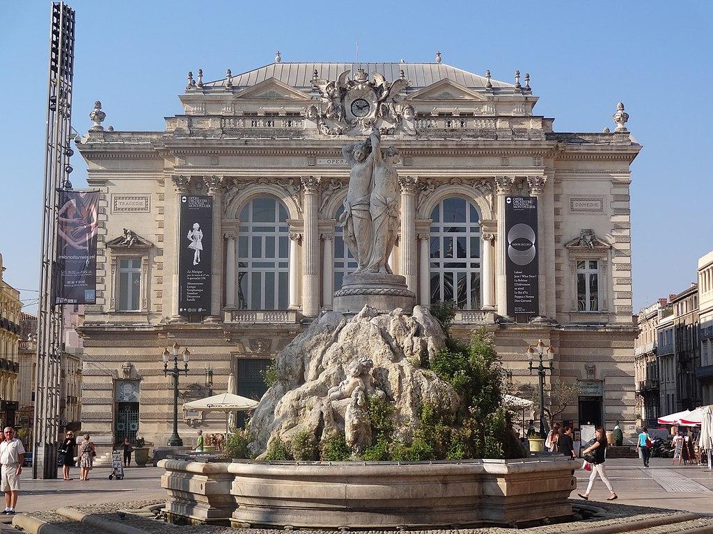File place de la comedie montpellier jpg wikimedia commons - Piscine place de l europe montpellier ...