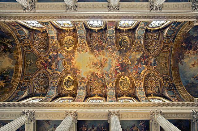 File plafond chapelle royale wikimedia - Plafond de la chapelle sixtine description ...