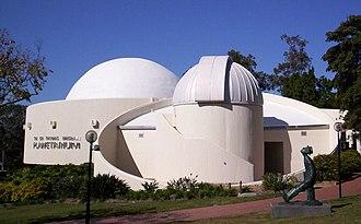 Sir Thomas Brisbane Planetarium - Sir Thomas Brisbane Planetarium and statue of Konstantin Tsiolkovsky