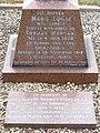 Plaque and gravestone, Essendon cemetery.jpg