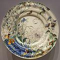 Plate with Spiderweb, Plant, and Insect Design, J. C. Heitz, made by Rozenburg Plateelfabriek, The Hague, Netherlands, 1892, lead-glazed earthenware - Busch-Reisinger Museum, Harvard University - DSC01217.jpg