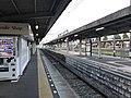 Platform of Omuta Station (Nishitetsu).jpg