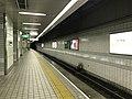 Platform of Tengachaya Station (Sakaisuji Line) 5.jpg