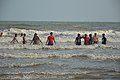 Playful People with Sea Waves - New Digha Beach - East Midnapore 2015-05-01 8831.JPG