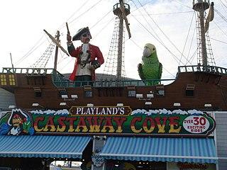 Playlands Castaway Cove Amusement park in Ocean City, New Jersey