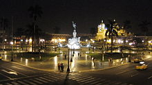 Trujillo Main Square at night