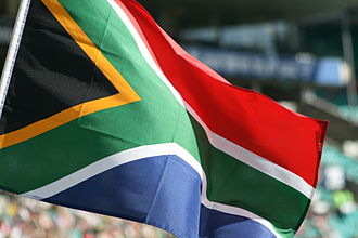 Flag of South Africa - The flag flying at the Sydney Cricket Ground.