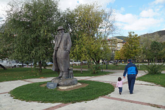 Pogradec - Writer Statue in Pogradec