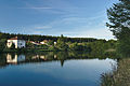 Pohora - pohled na vesnici od rybníku, Horní Štěpánov, okres Prostějov.jpg